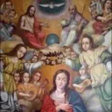Arte: ÓLEO S/LIENZO -CORONACIÓN DE LA VIRGEN-. ESCUELA BARROCA ANDALUZA S. XVII. 179X130 CMS.. Lote 107369739