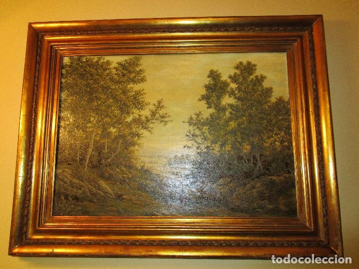 oleo paisaje, tamaño muy grande , antiguo, marc - Comprar Pintura ...