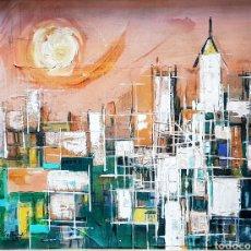 Arte: BARRY SALINAS (PUERTO RICO 1935) PRECIOSA PINTURA ORIGINAL FIRMADA.. Lote 107726966