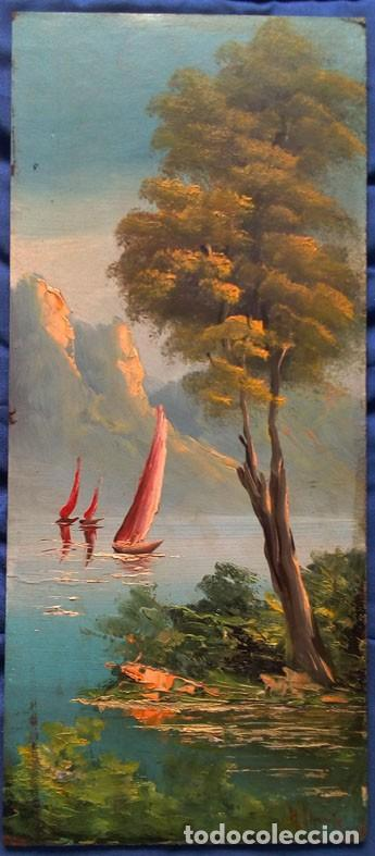 PAISAJE. OLEO SOBRE TABLA (Arte - Pintura - Pintura al Óleo Moderna sin fecha definida)