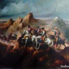 Arte: JOLOGA. ASALTO A DILIGENCIA POR BANDOLEROS. 116X81. P50. MARCO DE REGALO.. Lote 107813139