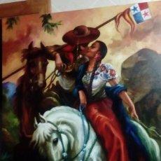 Arte: JOLOGA. BESO A CABALLO. 116X81. P50. MARCO DE REGALO.. Lote 107813143