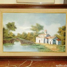 Arte: OLEO SOBRE LIENZO. PINTURA COSTUMBRISTA. FIRMADA POR LLOPIS. AÑOS 1950. Lote 107940342