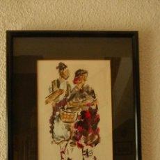 Arte: HUERTANOS, PINTURA DEL PINTOR MURCIANO BLAS ROSIQUE GAYA. Lote 107982119