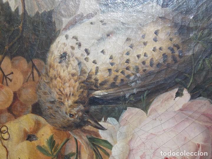 Arte: Antiguo oleo sobre tapiz lienzo bodegón Frances // France oil canvas - Foto 4 - 108028599