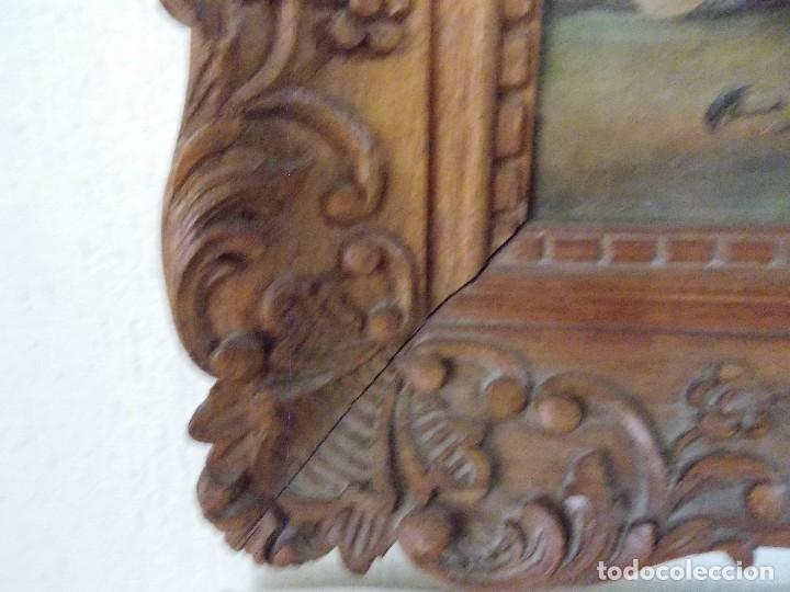 Arte: Antiguo oleo sobre tapiz lienzo bodegón Frances // France oil canvas - Foto 6 - 108028599