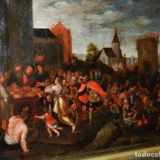 Arte: (M) PINTURA ANTIGUA AL OLEO DEL S.XVII POSIBLEMENTE FLAMENCA COSTUMBRISTA (ORIGINAL) VER FOTOGRAFIAS. Lote 108073875
