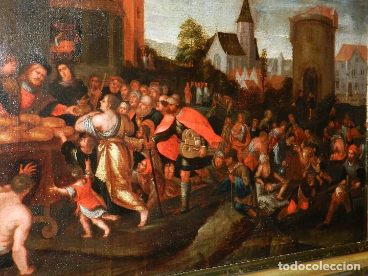 Arte: (M) PINTURA ANTIGUA AL OLEO DEL S.XVII POSIBLEMENTE FLAMENCA COSTUMBRISTA (ORIGINAL) VER FOTOGRAFIAS - Foto 3 - 108073875