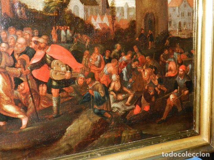 Arte: (M) PINTURA ANTIGUA AL OLEO DEL S.XVII POSIBLEMENTE FLAMENCA COSTUMBRISTA (ORIGINAL) VER FOTOGRAFIAS - Foto 6 - 108073875