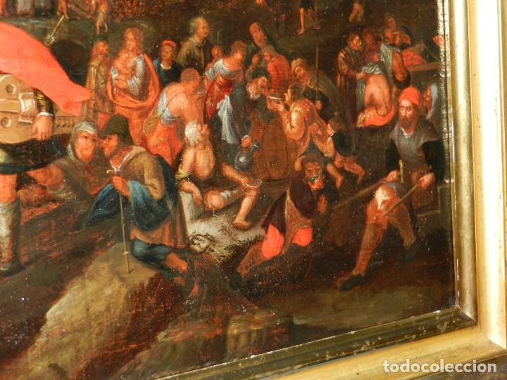 Arte: (M) PINTURA ANTIGUA AL OLEO DEL S.XVII POSIBLEMENTE FLAMENCA COSTUMBRISTA (ORIGINAL) VER FOTOGRAFIAS - Foto 7 - 108073875