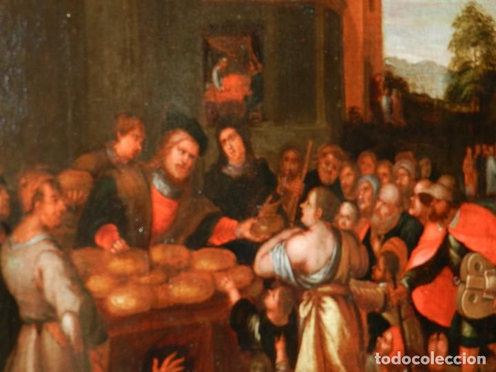 Arte: (M) PINTURA ANTIGUA AL OLEO DEL S.XVII POSIBLEMENTE FLAMENCA COSTUMBRISTA (ORIGINAL) VER FOTOGRAFIAS - Foto 9 - 108073875
