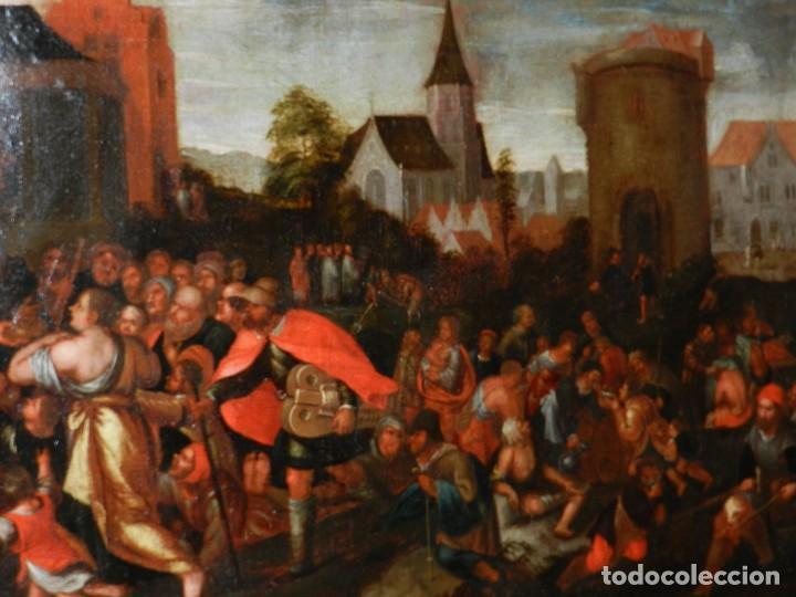 Arte: (M) PINTURA ANTIGUA AL OLEO DEL S.XVII POSIBLEMENTE FLAMENCA COSTUMBRISTA (ORIGINAL) VER FOTOGRAFIAS - Foto 10 - 108073875