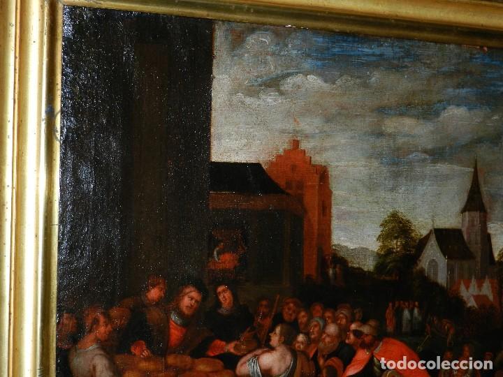 Arte: (M) PINTURA ANTIGUA AL OLEO DEL S.XVII POSIBLEMENTE FLAMENCA COSTUMBRISTA (ORIGINAL) VER FOTOGRAFIAS - Foto 13 - 108073875