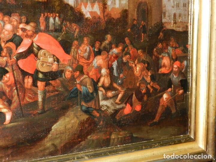 Arte: (M) PINTURA ANTIGUA AL OLEO DEL S.XVII POSIBLEMENTE FLAMENCA COSTUMBRISTA (ORIGINAL) VER FOTOGRAFIAS - Foto 17 - 108073875