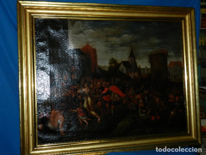Arte: (M) PINTURA ANTIGUA AL OLEO DEL S.XVII POSIBLEMENTE FLAMENCA COSTUMBRISTA (ORIGINAL) VER FOTOGRAFIAS - Foto 20 - 108073875
