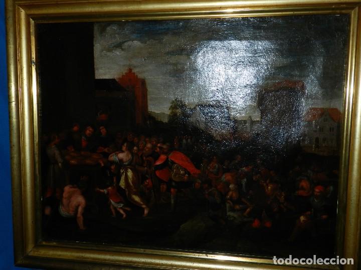 Arte: (M) PINTURA ANTIGUA AL OLEO DEL S.XVII POSIBLEMENTE FLAMENCA COSTUMBRISTA (ORIGINAL) VER FOTOGRAFIAS - Foto 22 - 108073875