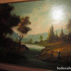 Arte: CUADRO OLEO EN TABLA PAISAJE DE HOLANDA FIRMADO J. DAVIS, BUEN TAMAÑO 73 X 56. Lote 108312735