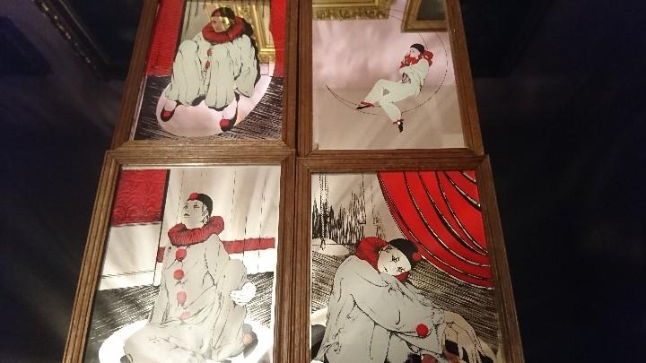 LOTE 4 CUADROS ARLEQUÍN OLEO SOBRE ESPEJO (Arte - Pintura - Pintura al Óleo Contemporánea )