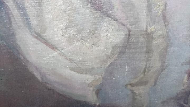 Arte: ÓLEO DAMA CON SOMBRILLA LLUIS MUNTANÉ MUNS - Foto 8 - 108390003