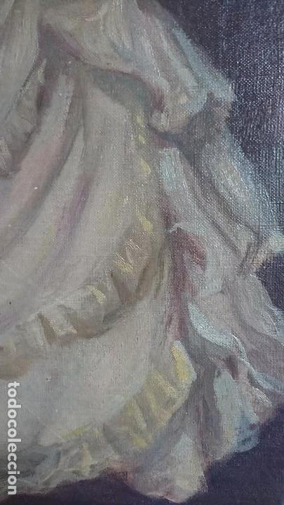 Arte: ÓLEO DAMA CON SOMBRILLA LLUIS MUNTANÉ MUNS - Foto 5 - 108390003