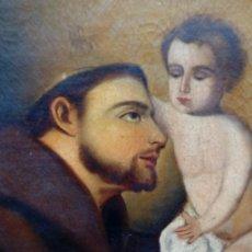 Arte: ÓLEO S/LIENZO -SAN ANTONIO-, SIGLO XVIII -ESCUELA BARROCA ANDALUZA-. MARCO DE ÉPOCA. 96,5X75.5 CMS. Lote 108396739