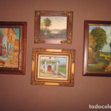Arte: OLEO LOTE DE CUADROS AL OLEO DE DISTINTAS EPOCAS CON ESTILO CLASICO Y VARIADO. Lote 108398851