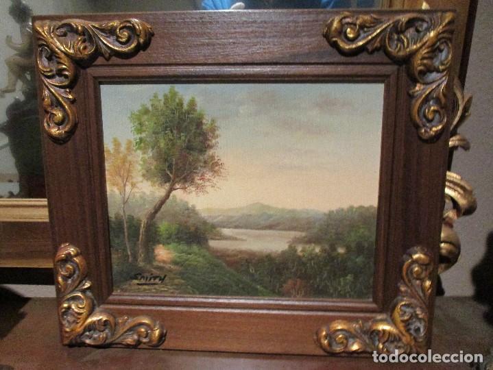 Arte: oleo lote de cuadros al oleo de distintas epocas con estilo clasico y variado - Foto 3 - 108398851