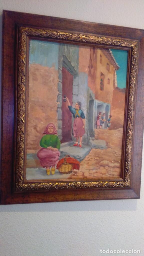 Arte: oleo lote de cuadros al oleo de distintas epocas con estilo clasico y variado - Foto 4 - 108398851