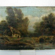 Arte: BELLA PINTURA HOLANDESA - OLEO SOBRE TABLA DE CAOBA - PAISAJE S.XIX XVIII. Lote 108793075