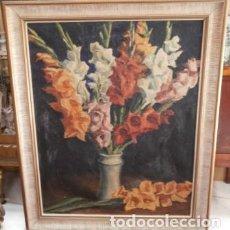 Arte: BODEGON DE FLORES PINTURA AL OLEO DE JULIO GARCIA SANZ( SAN SEBASTIAN 1936). Lote 108855991
