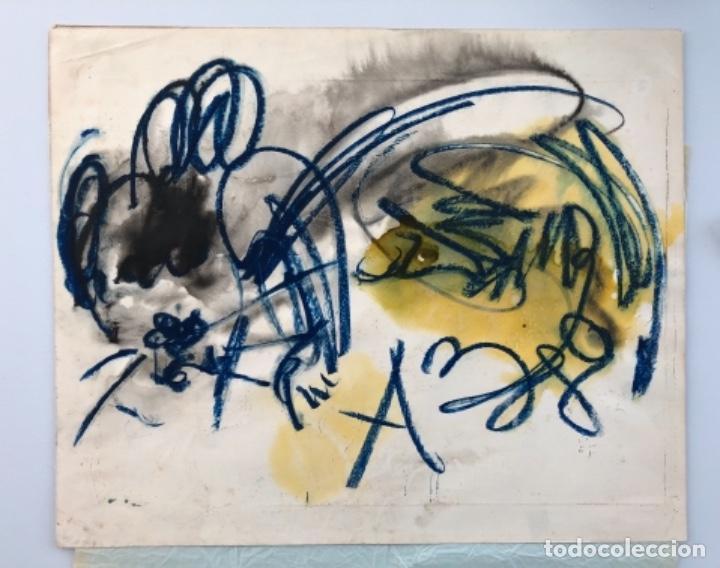 ANATOLY ZVEREV . RUSIA . TÉCNICA MIXTA SOBRE PAPEL . 1980 (Arte - Pintura - Pintura al Óleo Contemporánea )