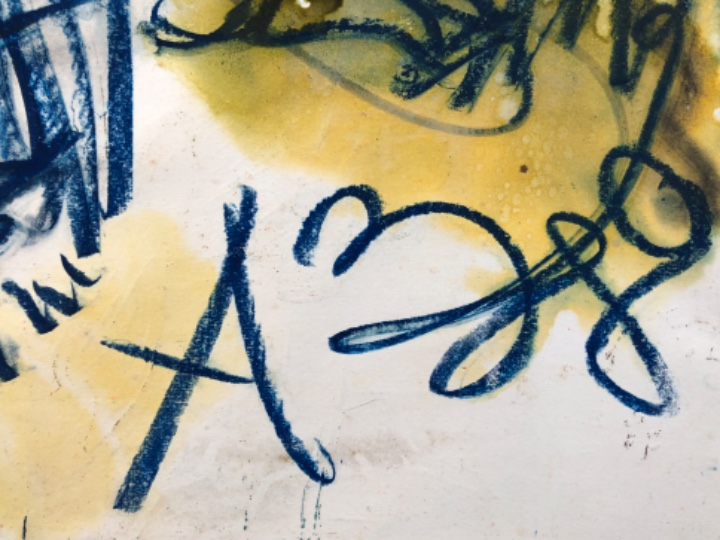 Arte: Anatoly zverev . Rusia . Técnica mixta sobre papel . 1980 - Foto 2 - 108877755