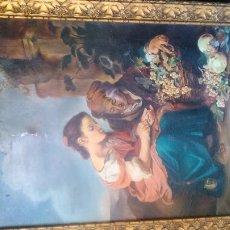 Arte: REPRODUCCIÓN A TAMAÑO NATURAL DEL CUADRO DE MURILLO LAS VENDEDORAS DE FRUTA ENMARCADO. Lote 108916667