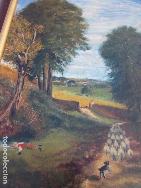 Arte: oleo lote de cuadros al oleo de distintas epocas con estilo clasico y variado - Foto 2 - 108398851