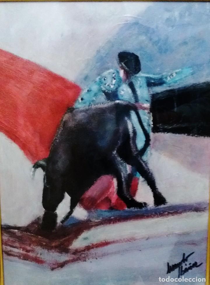 TORERO. ACRÍLICO SOBRE TABLA 50 X 40 CM. MANOLO IBÁÑEZ (Arte - Pintura Directa del Autor)