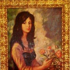 Arte: OLEO SOBRE LIENZO. MAJA TIPO RIBERA CON TOQUES MODERNISTAS. BELLA COMPOSICION DE COLORIDO Y DETALLE.. Lote 109082347