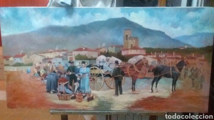 PINTURA OLEO EN LIENZO INACABADA 75 X 150 CM (Arte - Pintura - Pintura al Óleo Contemporánea )