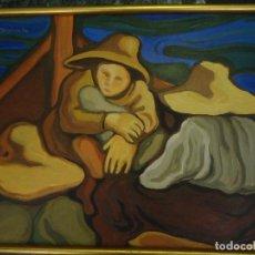 Arte: PESCADORAS MEDITERRNEAS. PINTURA AL ÓLEO SOBRE TABLEX. FIRMADA MABALA?.. Lote 109130031