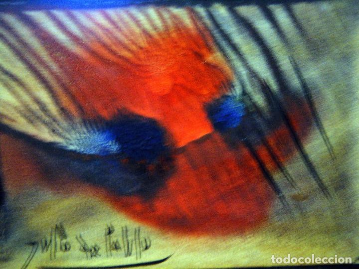 Arte: Pequeña y bella obra de Julio de Pablo (1917- 2009) Felicitación a un amigo,1976 Técnica mixta - Foto 5 - 109209695