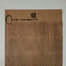 """Arte: JOSÉ LAPASIÓ ORIGINAL SOBRE LÁMINA DE MADERA - """"LLAVES I"""" 32X25 CM. COA. Lote 109245555"""