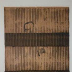 """Arte: JOSÉ LAPASIÓ ORIGINAL SOBRE LÁMINA DE MADERA - """"LLAVES II"""" 32X24 CM. COA . Lote 109245847"""