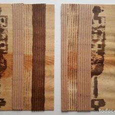 """Arte: JOSÉ LAPASIÓ ORIGINAL SOBRE LÁMINA DE MADERA - """"CERANDO I-II"""" 29X20 CM. C/U. COA . Lote 109246843"""