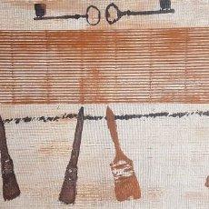 """Arte: JOSÉ LAPASIÓ EXCELENTE CUADRO ORIGINAL """"PINCELES Y LLAVES"""" 44.50X 87 CM. COA. Lote 109247219"""