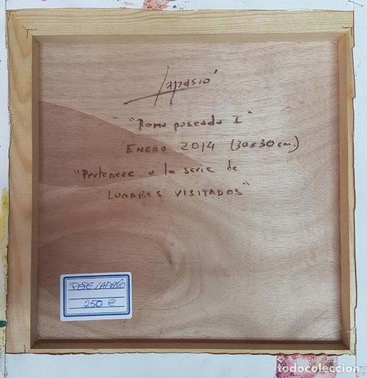 "Arte: JOSÉ LAPASIÓ EXCELENTE CUADRO ORIGINAL - TITULO ""ROMA PASEADA I"" 30x30 cm. COA - Foto 2 - 109250907"