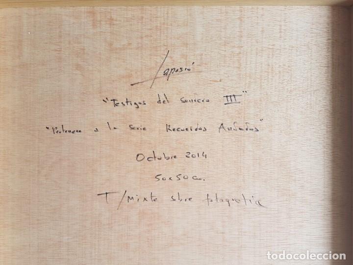 "Arte: JOSÉ LAPASIÓ EXCELENTE CUADRO ORIGINAL ""TESTIGOS DEL SENDERO III"" 50x50 cm. COA - Foto 2 - 109252327"