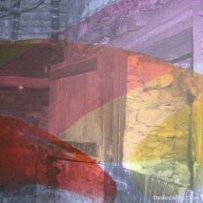 "Arte: JOSÉ LAPASIÓ EXCELENTE CUADRO ORIGINAL ""CAMINO MÁGICO XIV"" 50X50X5 CM. COA. Lote 109253243"
