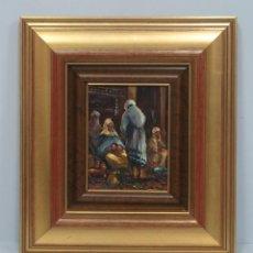 Arte: BONITA ESCENA INTERIOR ORIENTALISTA. OLEO S/ COBRE. FIRMADA. SEGUNDA MITAD SIGLO XX. Lote 109308115
