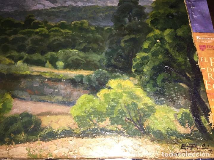 Arte: Evelio Palá, pintura al óleo sobre lienzo, paisaje, medidas aprox.65x50cms. - Foto 2 - 109375143