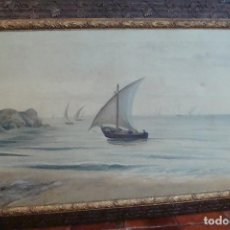 Arte: ÓLEO SOBRE LIENZO MARINA - FIRMADO - PRINCIPIOS SIGLO XX. Lote 109383383