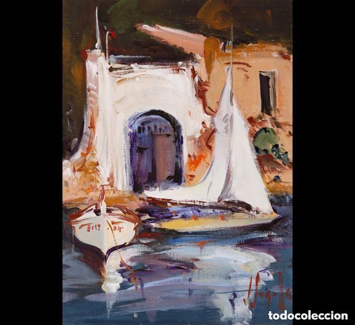 JOAN SARQUELLA, ÓLEO SOBRE PLATEX (Arte - Pintura - Pintura al Óleo Contemporánea )